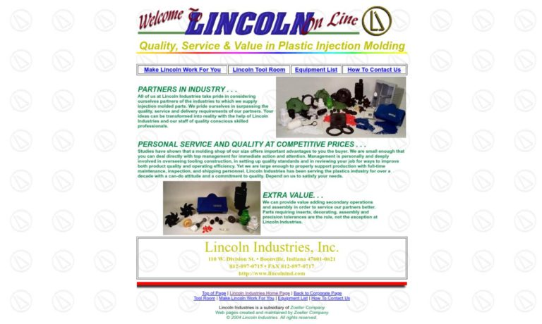 Lincoln Industries, Inc.